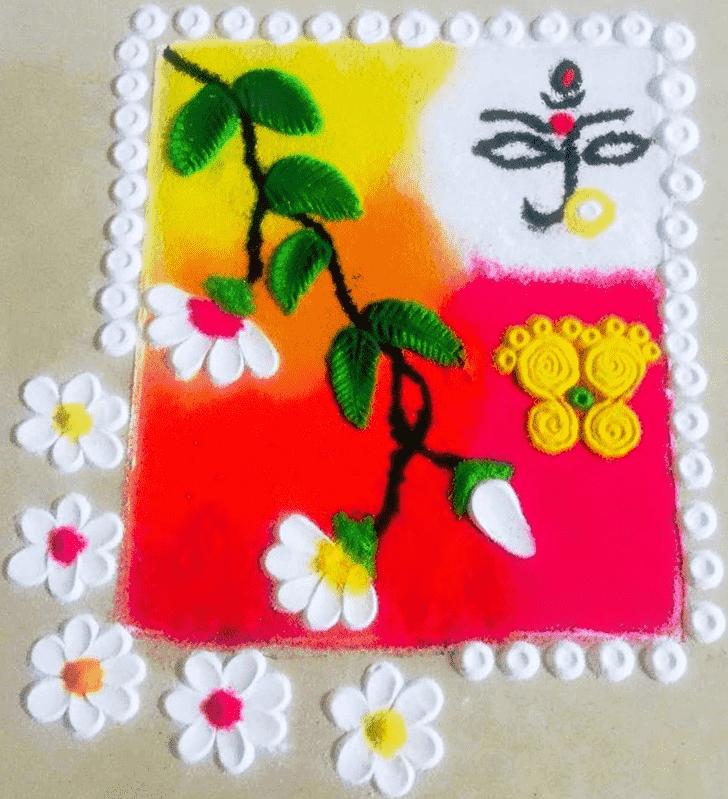 Fascinating Durga Rangoli