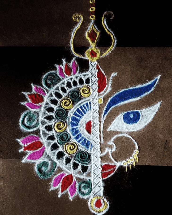 Ideal Durga Rangoli