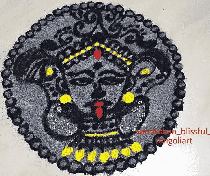 Refined Durga Rangoli
