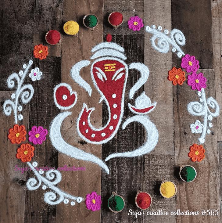 Captivating Durva Ashtami Rangoli