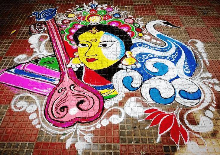 Appealing Face Rangoli