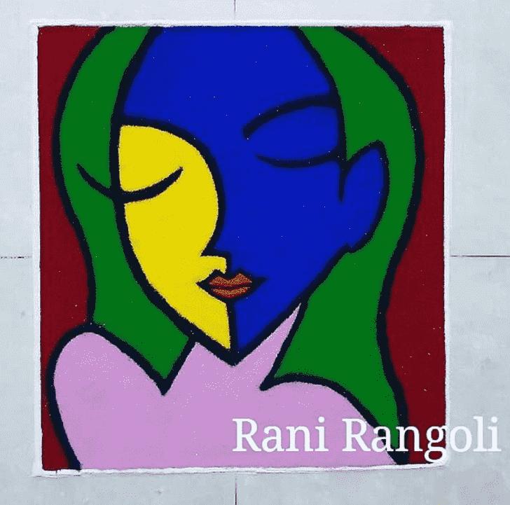 Admirable Fashion Rangoli Design