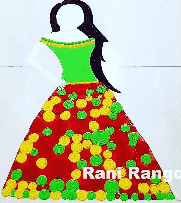 Bewitching Fashion Rangoli