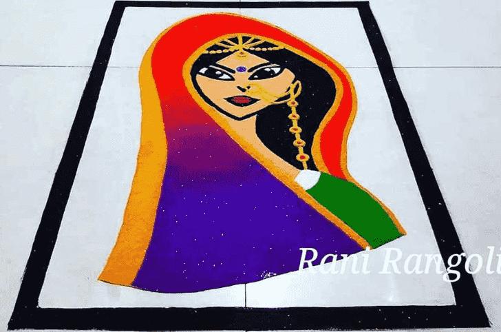 Captivating Fashion Rangoli