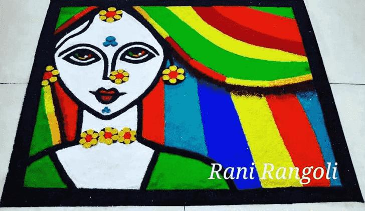 Classy Fashion Rangoli