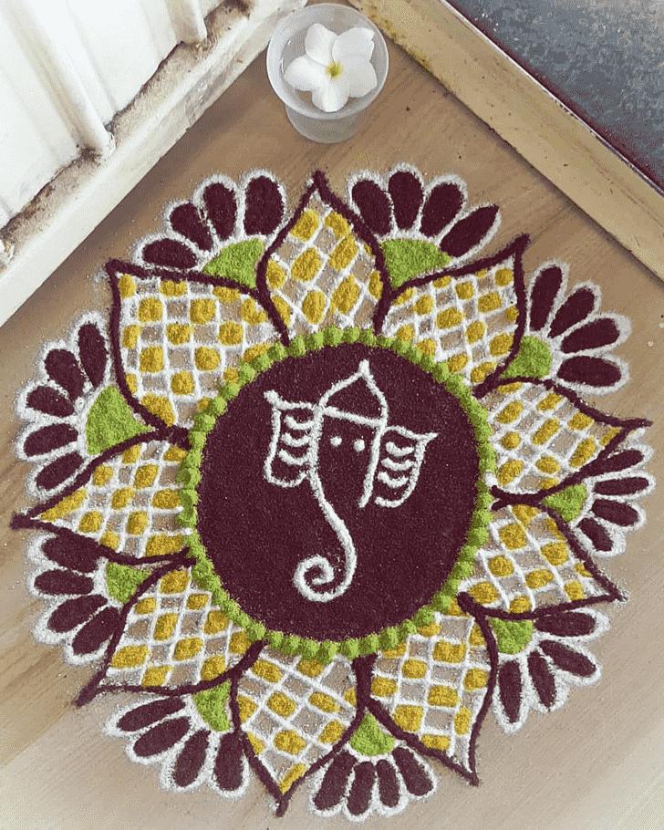 Dazzling Festival Rangoli