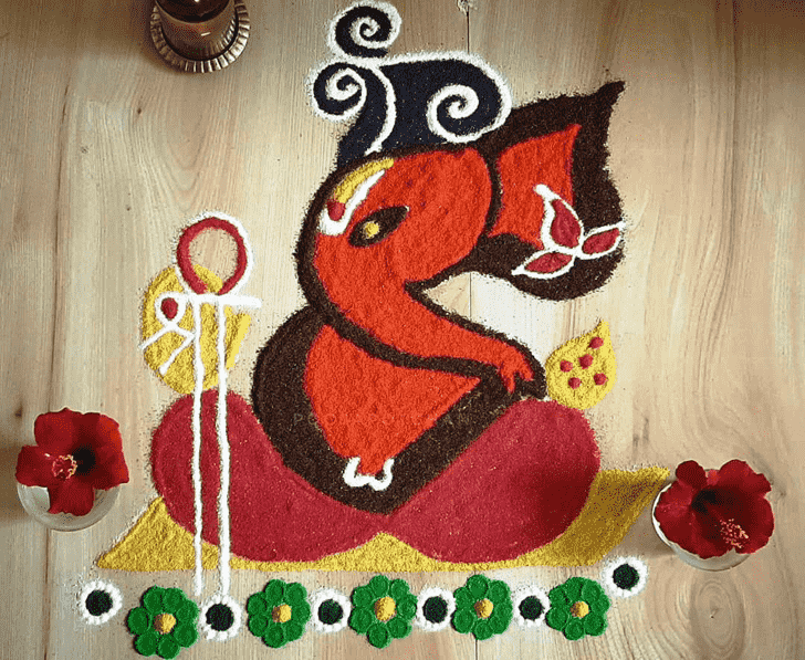 Delicate Festival Rangoli