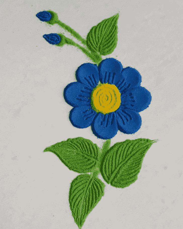 Admirable Flower Rangoli Design