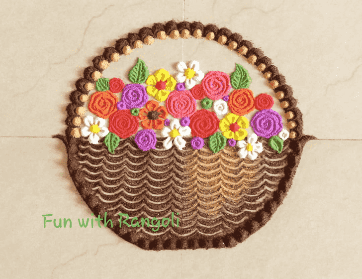 Adorable Flower Rangoli