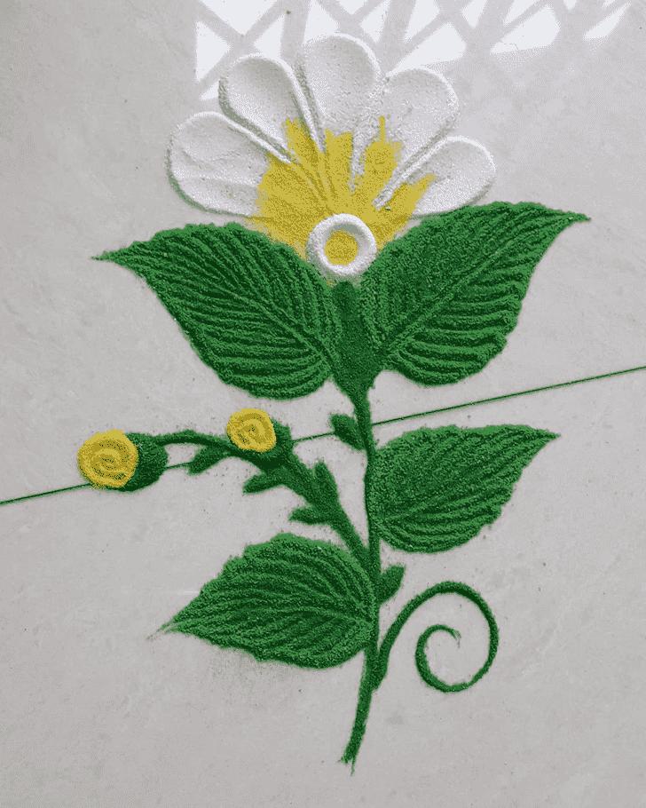 Alluring Flower Rangoli
