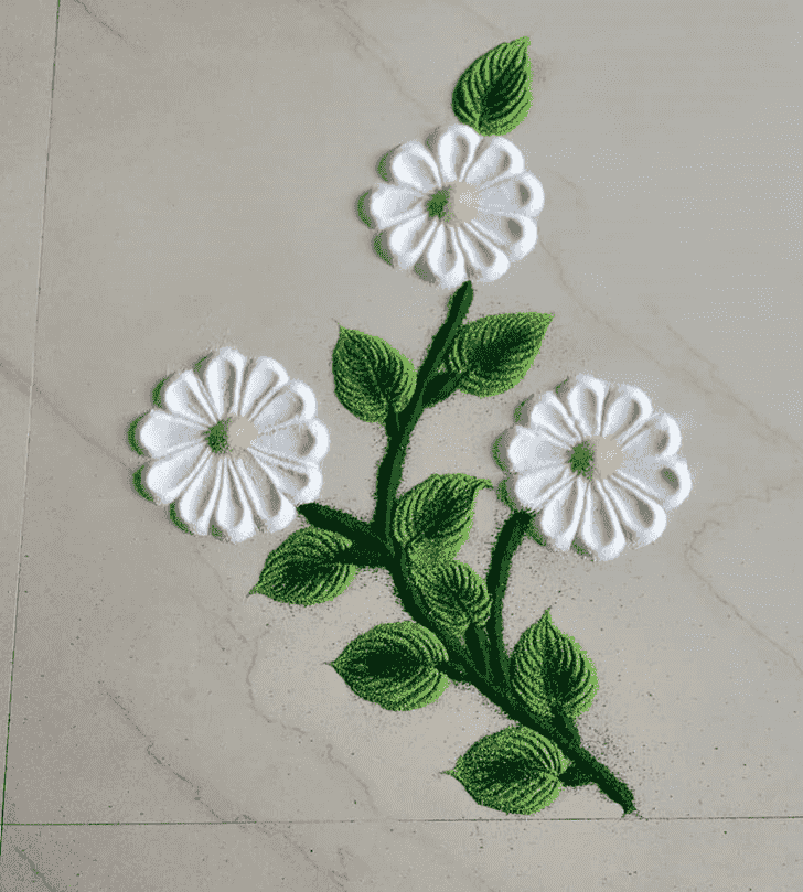 Captivating Flower Rangoli
