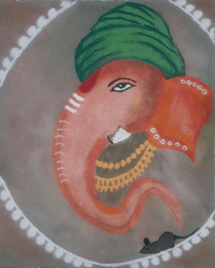 Bewitching Ganesh Rangoli
