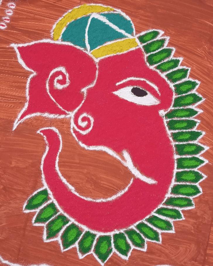 Classy Ganesh Rangoli
