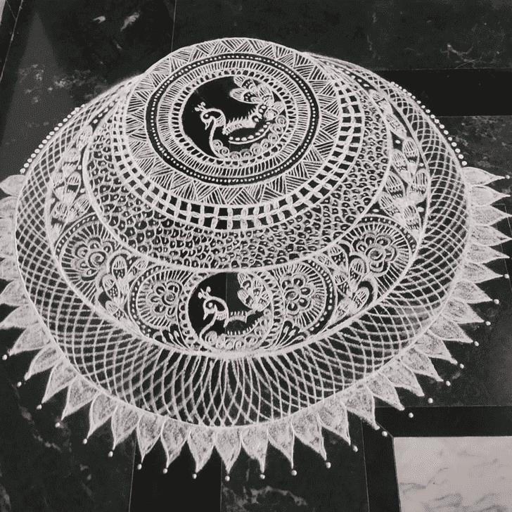 Admirable Ganga Saptami Rangoli Design