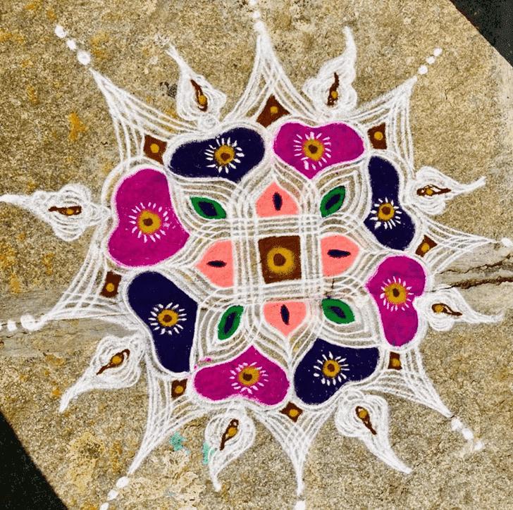 Captivating Ganga Saptami Rangoli