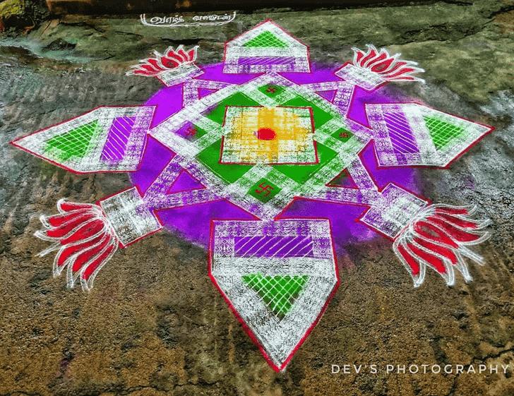 Refined Ganga Saptami Rangoli
