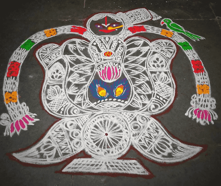 Wonderful Ganga Saptami Rangoli Design