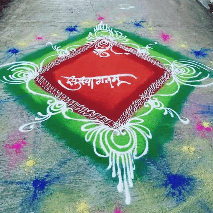 Alluring Gauri Avahana Rangoli