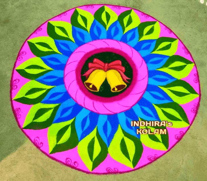 Admirable Govatsa Dwadashi Rangoli Design