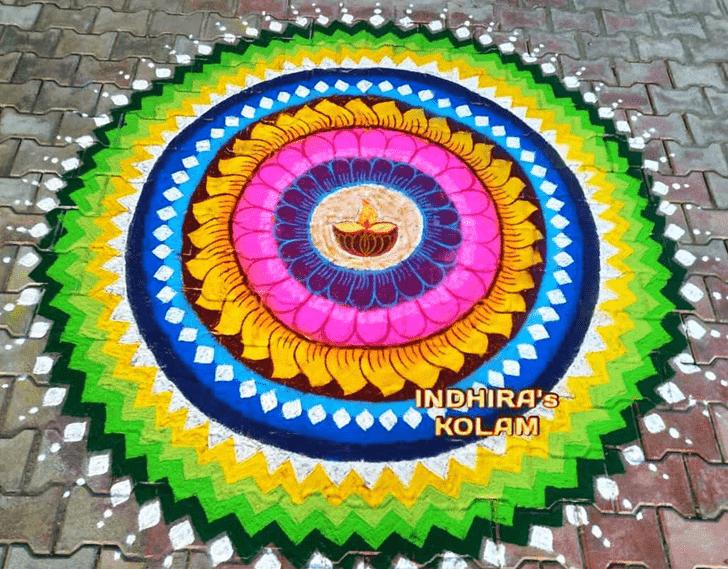 Adorable Govatsa Dwadashi Rangoli