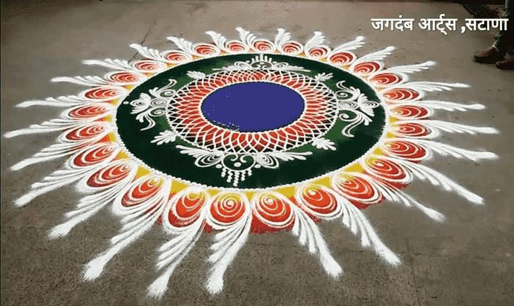 Captivating Govatsa Dwadashi Rangoli