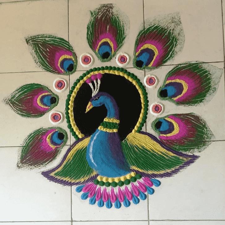 Classy Govatsa Dwadashi Rangoli