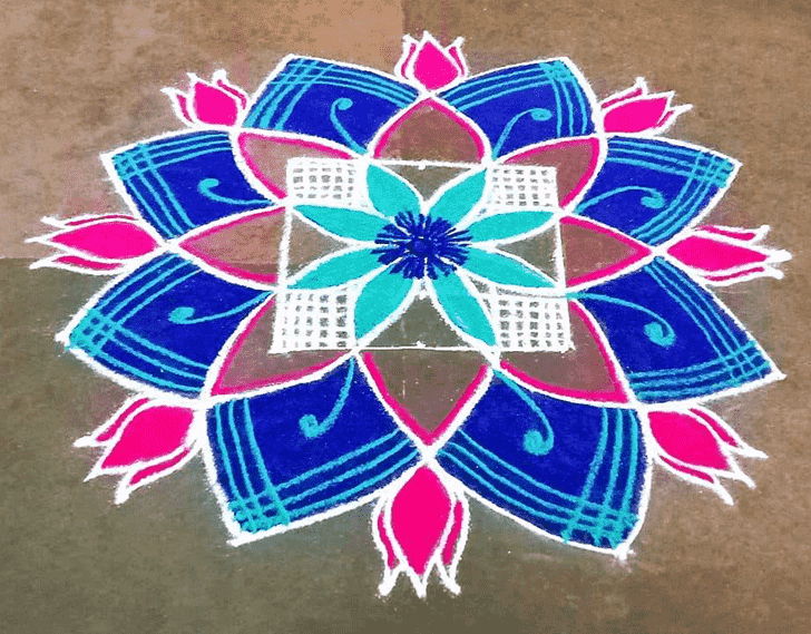 Fascinating Govatsa Dwadashi Rangoli