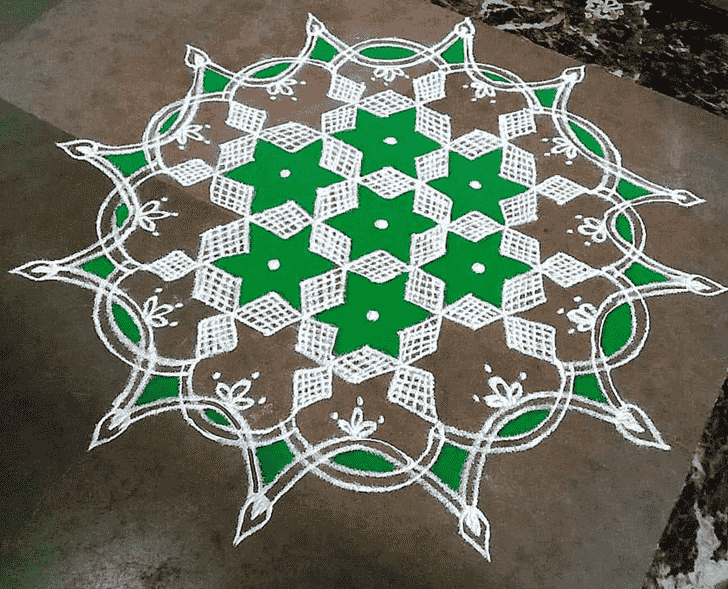 Good Looking Govatsa Dwadashi Rangoli