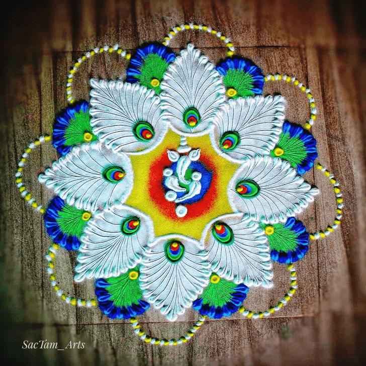 Marvelous Govatsa Dwadashi Rangoli