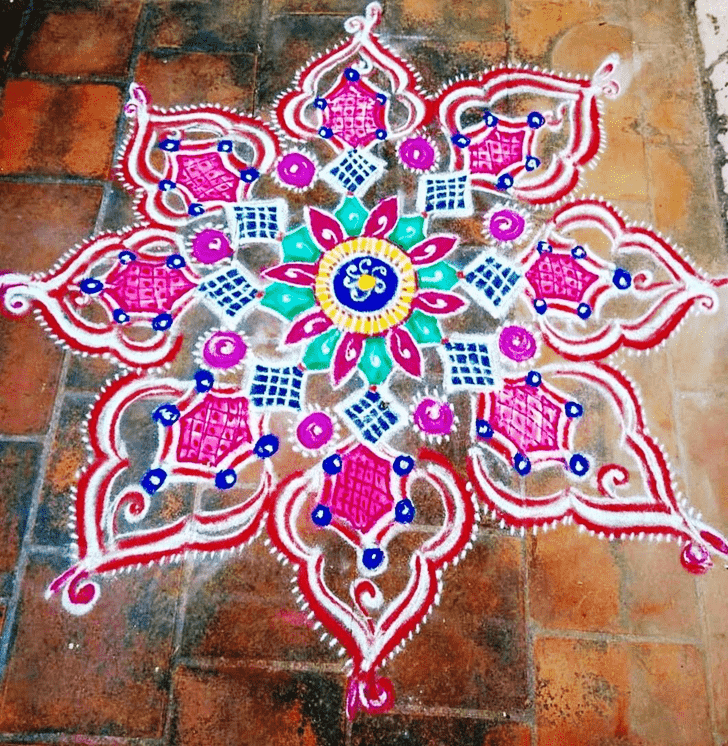 Slightly Govatsa Dwadashi Rangoli