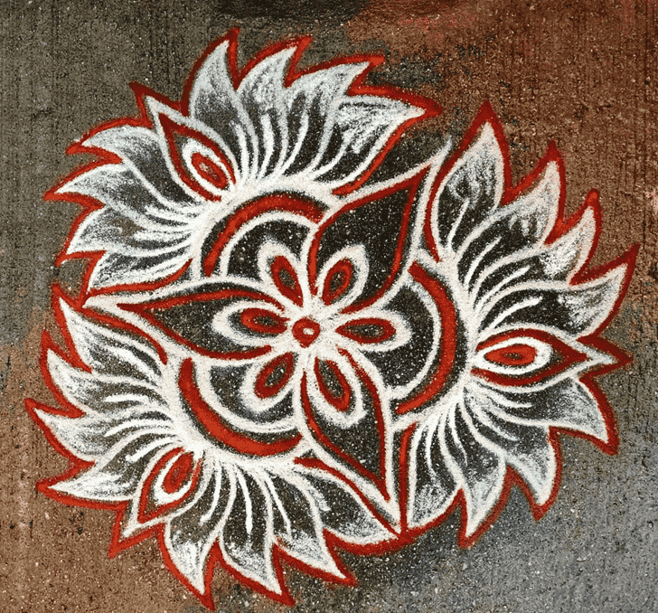 Wonderful Govatsa Dwadashi Rangoli Design