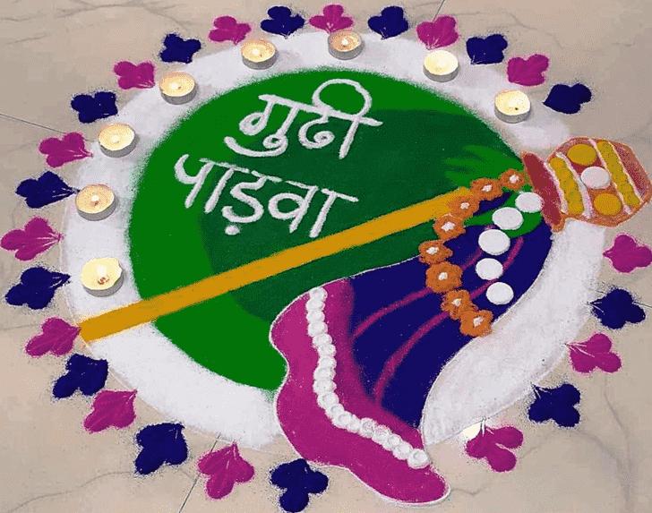 Beauteous Gudi Padwa Rangoli