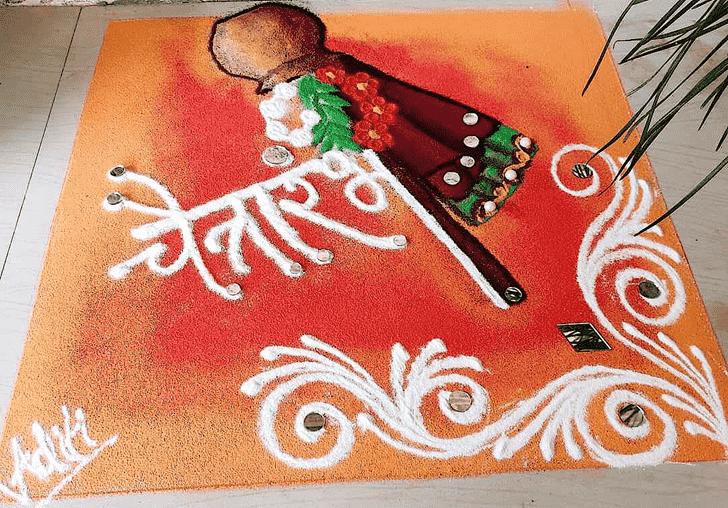 Bewitching Gudi Padwa Rangoli
