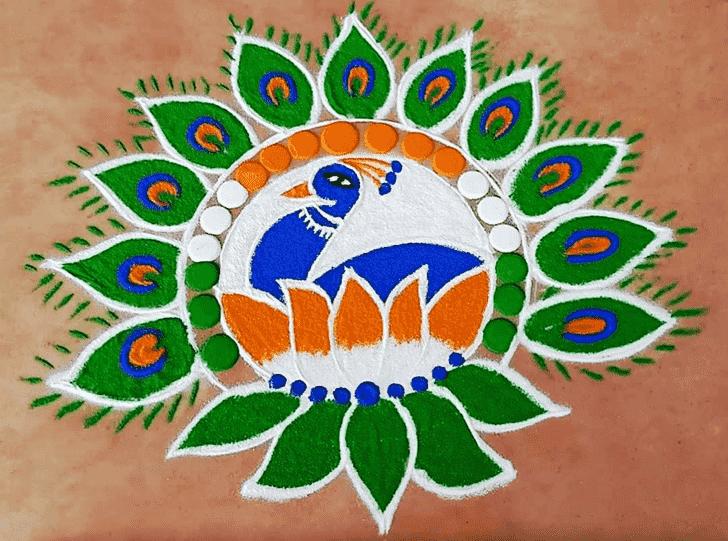 Angelic Independence Day Rangoli