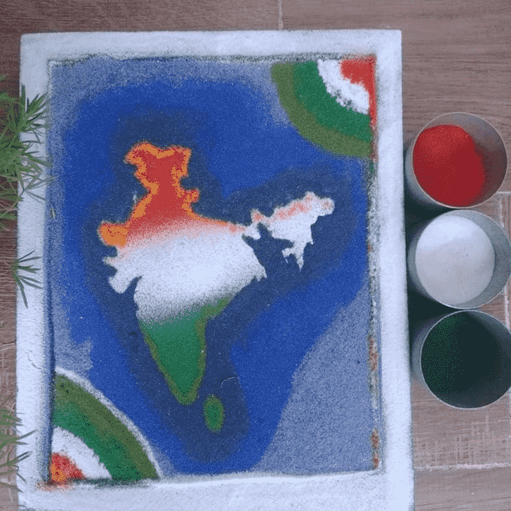 Comely Independence Day Rangoli