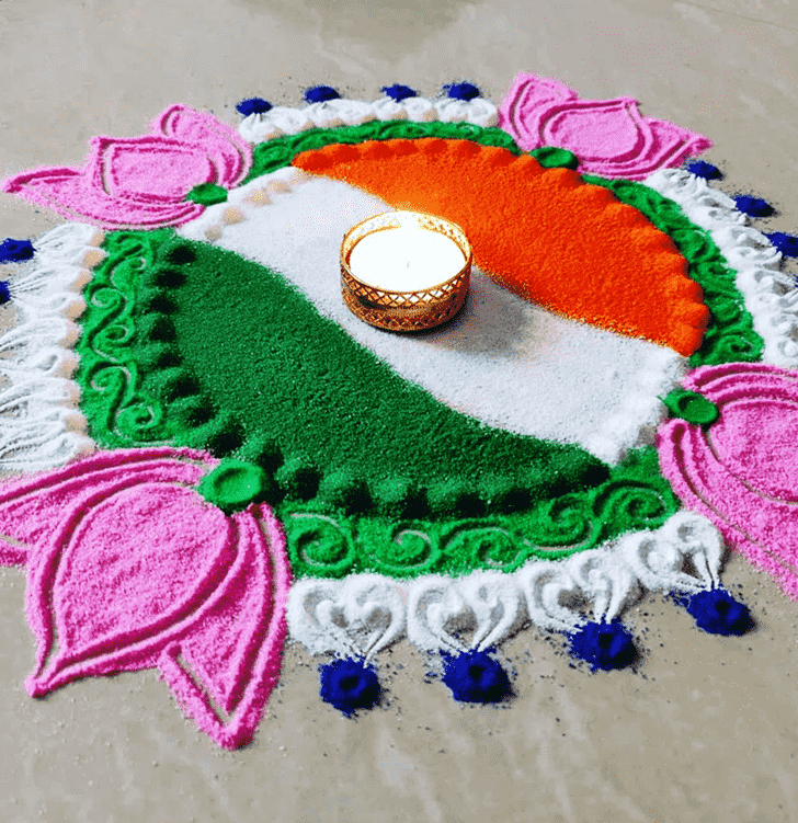 Enticing Independence Day Rangoli
