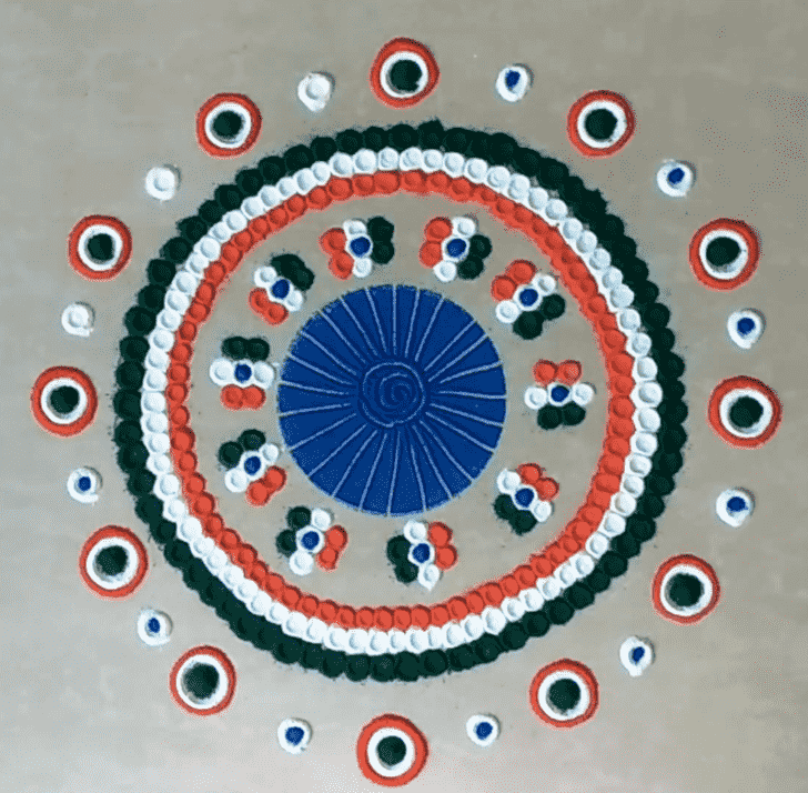 Excellent Independence Day Rangoli