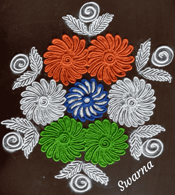 Exquisite Independence Day Rangoli