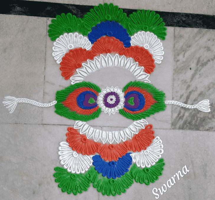 Good Looking Independence Day Rangoli