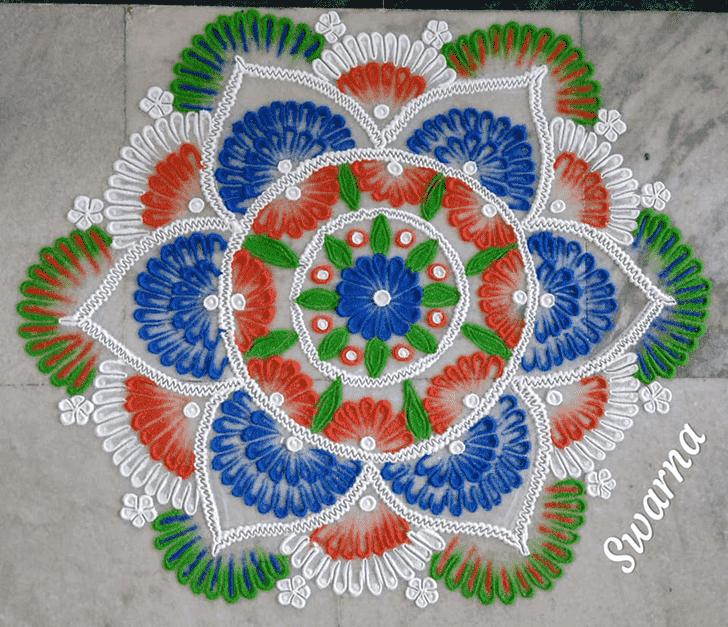 Graceful Independence Day Rangoli