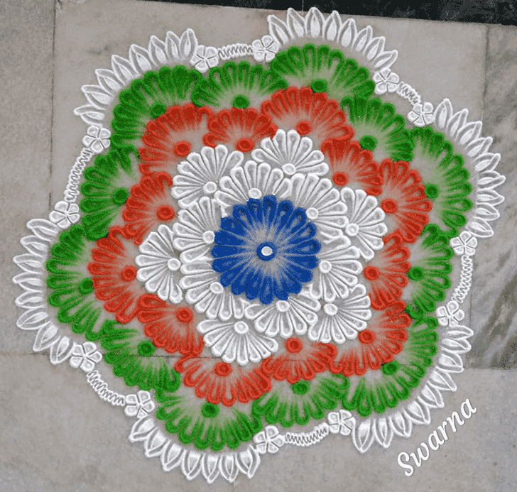 Ideal Independence Day Rangoli