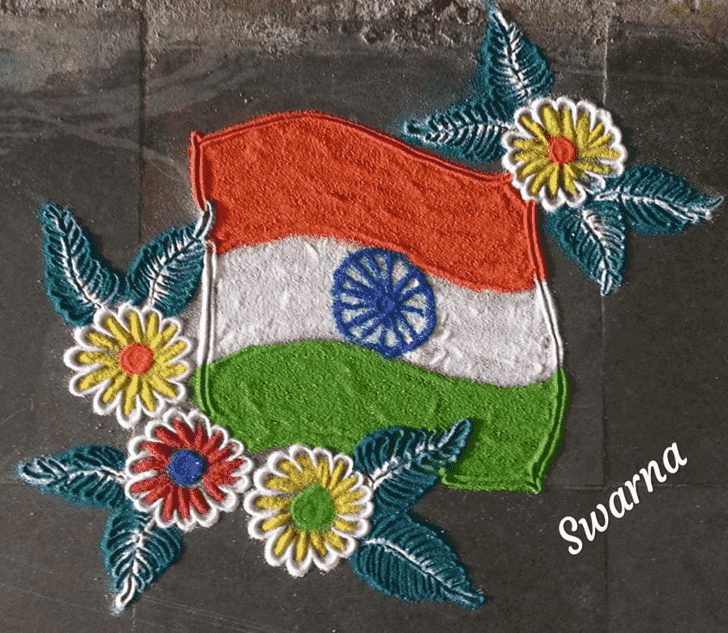 Magnificent Independence Day Rangoli