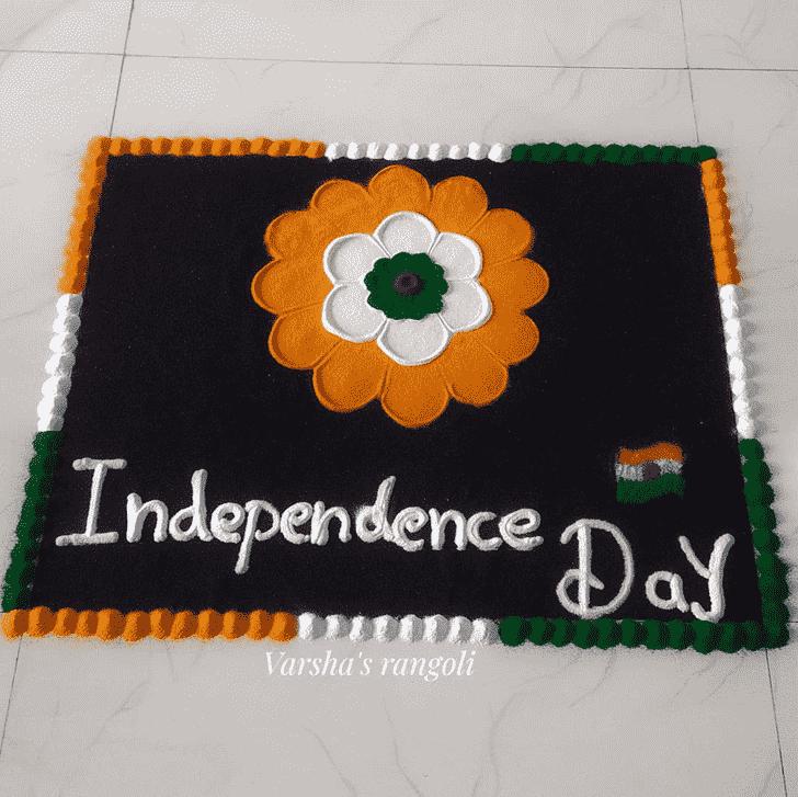 Pleasing Independence Day Rangoli