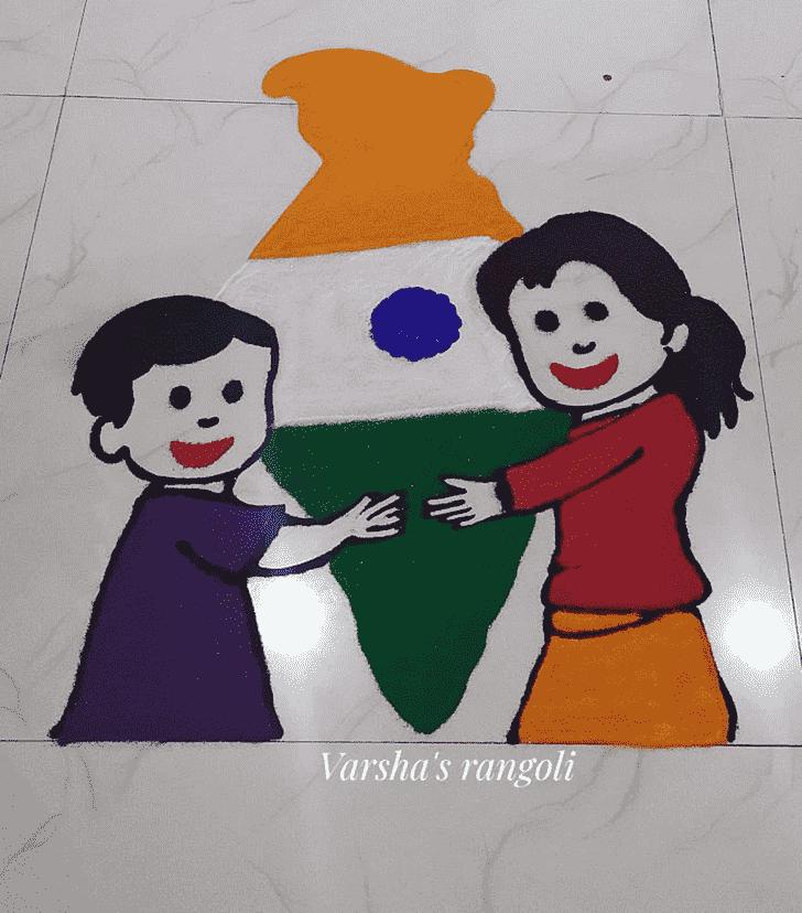 Pretty Independence Day Rangoli
