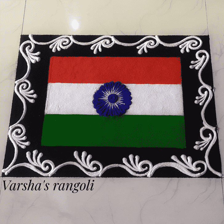Ravishing Independence Day Rangoli