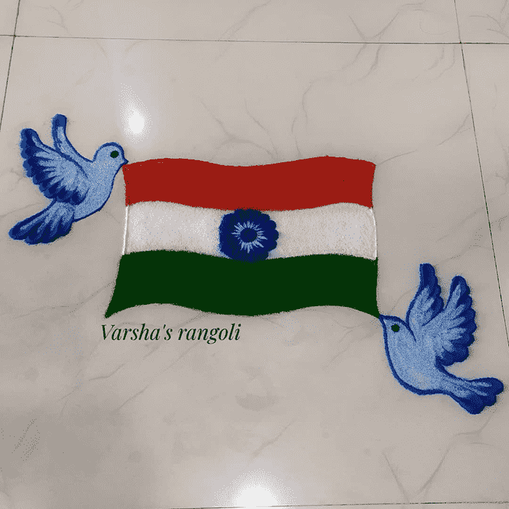 Refined Independence Day Rangoli