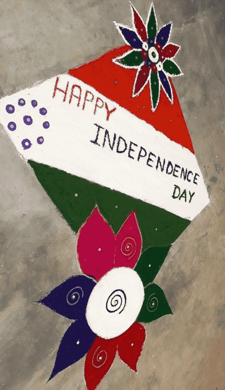 Shapely Independence Day Rangoli