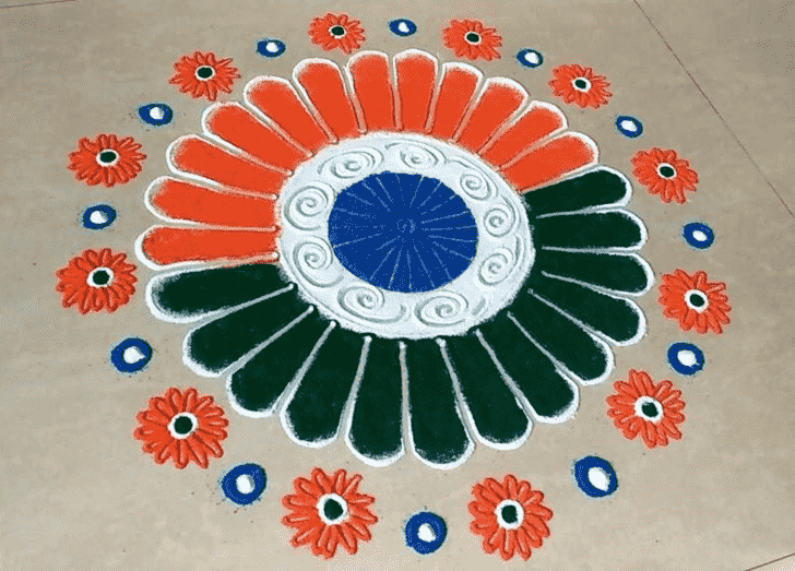 Slightly Independence Day Rangoli