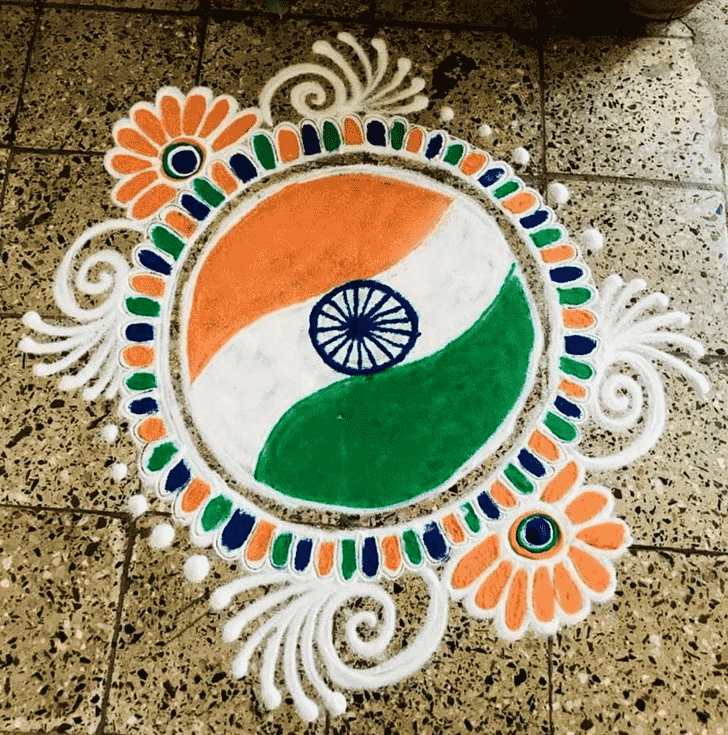 Admirable Indian Rangoli Design