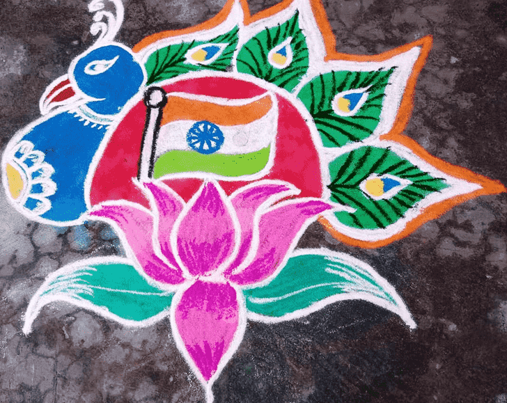 Adorable Indian Rangoli